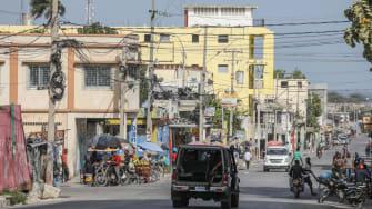 Police patrol the streets in Haiti