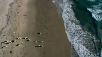 Oil spill in California.