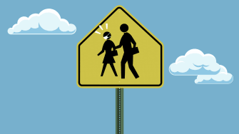A school sign.