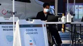 COVID-19 vaccine clinic.