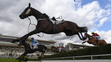 A horse race.