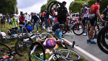 A bicycle crash.