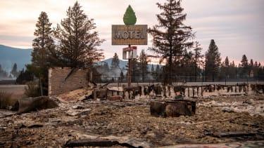 A ruined motel.