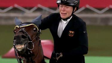 A sad rider.