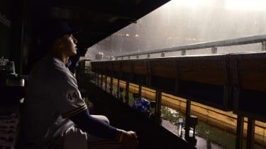 A rain delay.