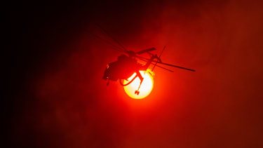 A helicopter in Greece.