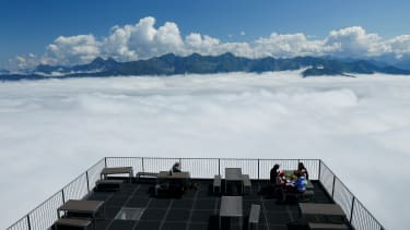 A cloudy platform.