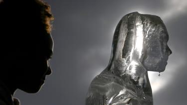 An ice sculpture.