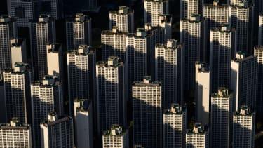 Residential buildings in Seoul.