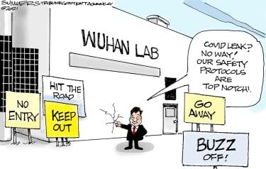 Political Cartoon World china xi jinping wuhan lab covid