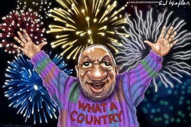 Cosby celebrates