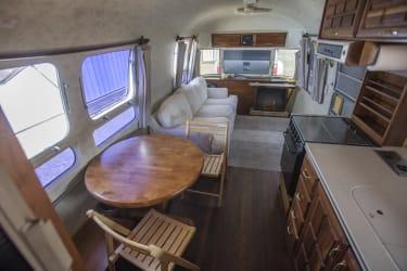 Inside Airstream.