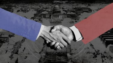 A handshake.