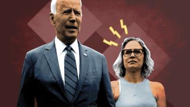 President Biden and Krysten Sinema.