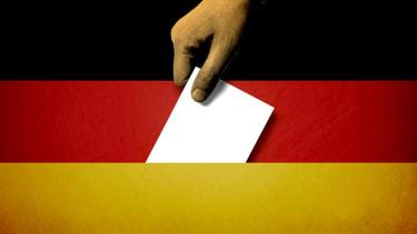 The German flag.