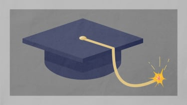 A mortarboard.