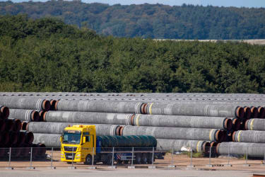 Nord Stream 2 construction.