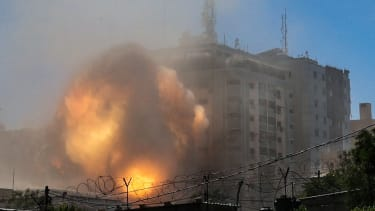 Strike on Al Jala Tower in Gaza.