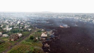 Debris from Mount Nyiragongo.