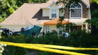 Crime scene of house shooting in New Jersey.