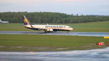 The Ryanair plane that was forced to land in Belarus.