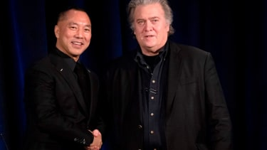 Guo Wengui and Stephen Bannon.