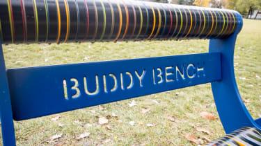 A buddy bench.