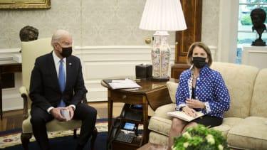 President Biden and Sen. Shelley Moore Capito