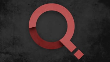 A q and a question mark.