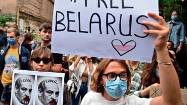 Anti-Lukashenko protesters.