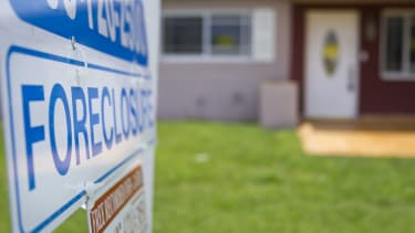 Foreclosure sign.