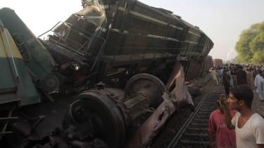 Train collision near Multan, Pakistan
