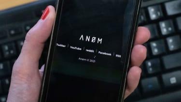 Smartphone showing Anom app.