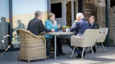 Angela Merkel, Joe Biden, Jake Sullivan, Jan Hecker.