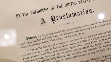 The Emancipation Proclamation.