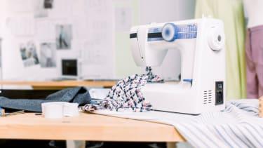 A sewing machine.