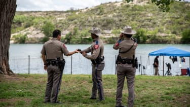 Texas state police at the Mexico border