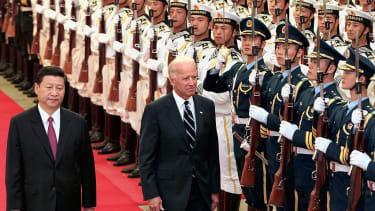 President Biden with Chinese President Xi Jinping.