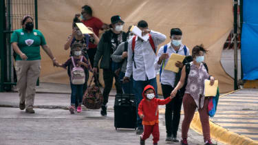 Asylum seekers in Mexico.