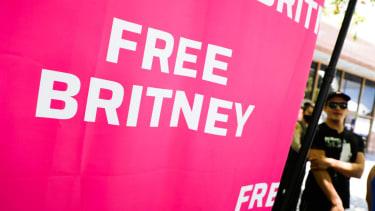 """Free Britney"" sign."