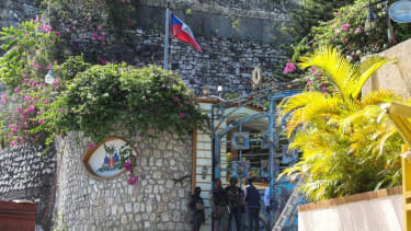 The presidential residence in Port-au-Prince.