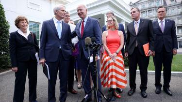 Joe Biden, infrastructure negotiators