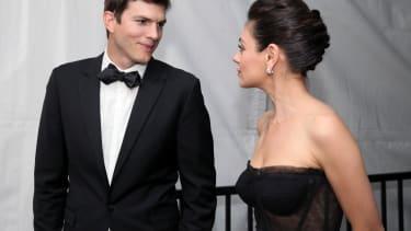 Ashton Kutcher and Mila Kunis.