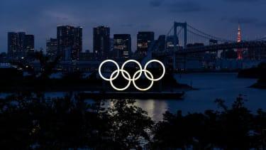 Olympic rings in Tokyo.