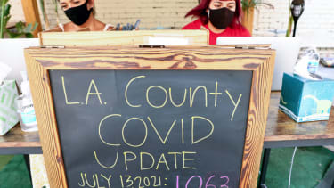 Coronavirus cases in L.A. County.