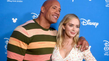 Dwayne Johnson and Emily Blunt