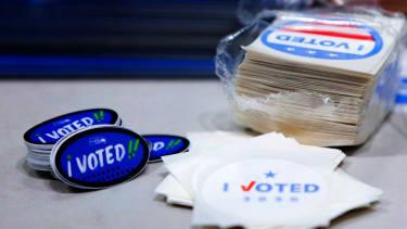I Voted sticker.