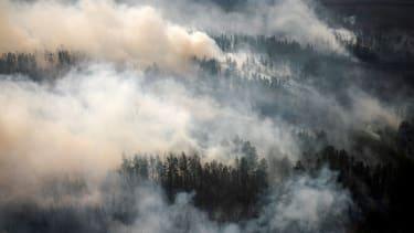 Fires burning in Siberia.