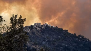 Smoke from fires near Algiers, Algeria.