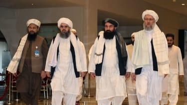 Taliban leaders in Qatar.